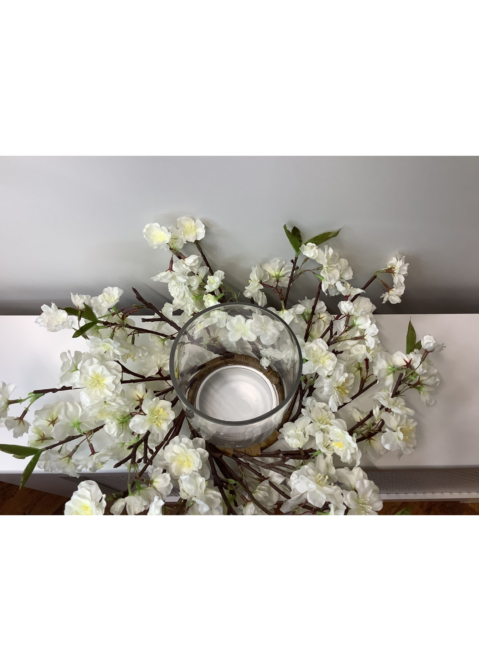 Cherry blossom candle holder 45cm wide