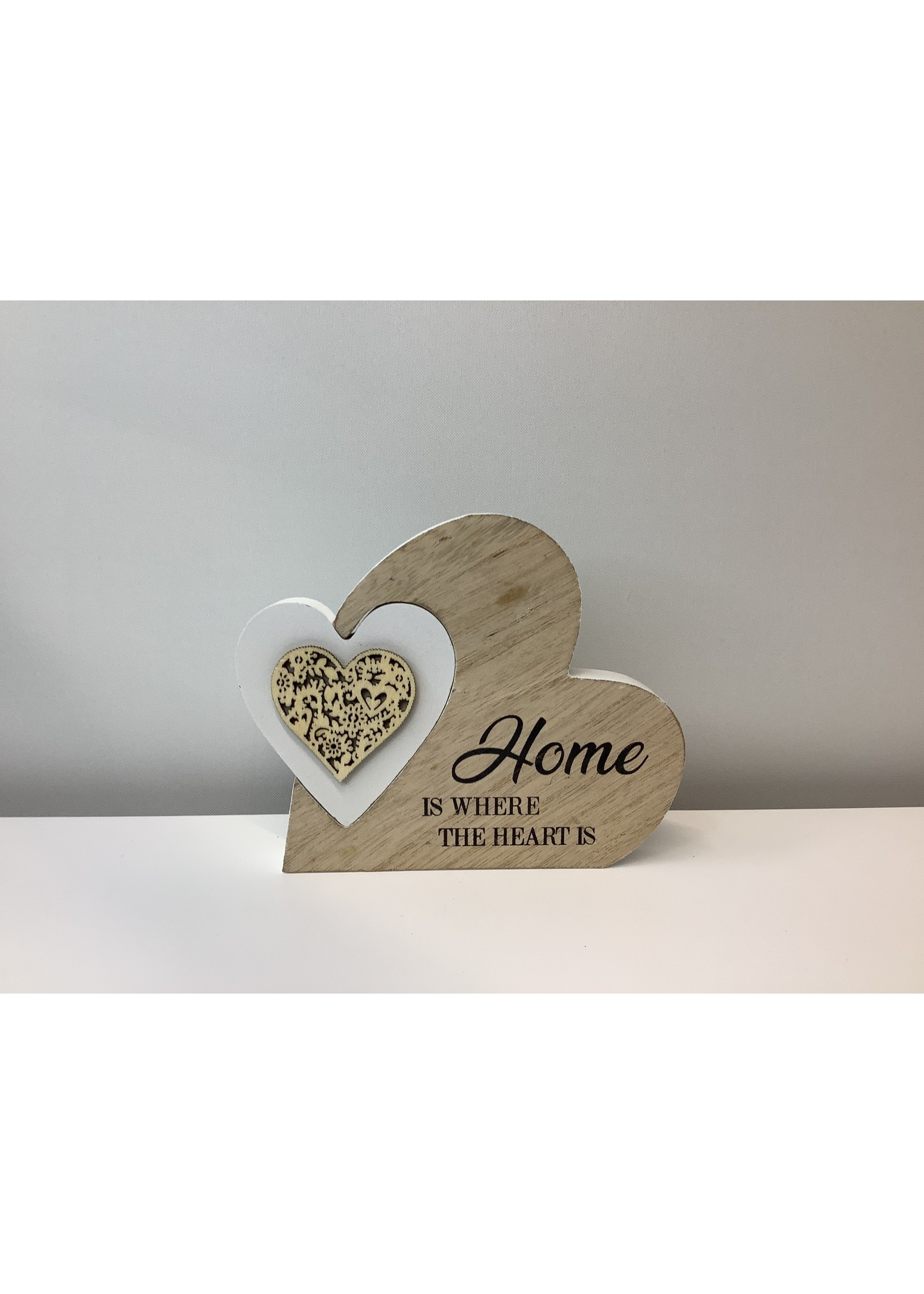 Home & Heart Plaque 16cm