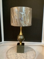 Green & Gold Lamp 74cm tall
