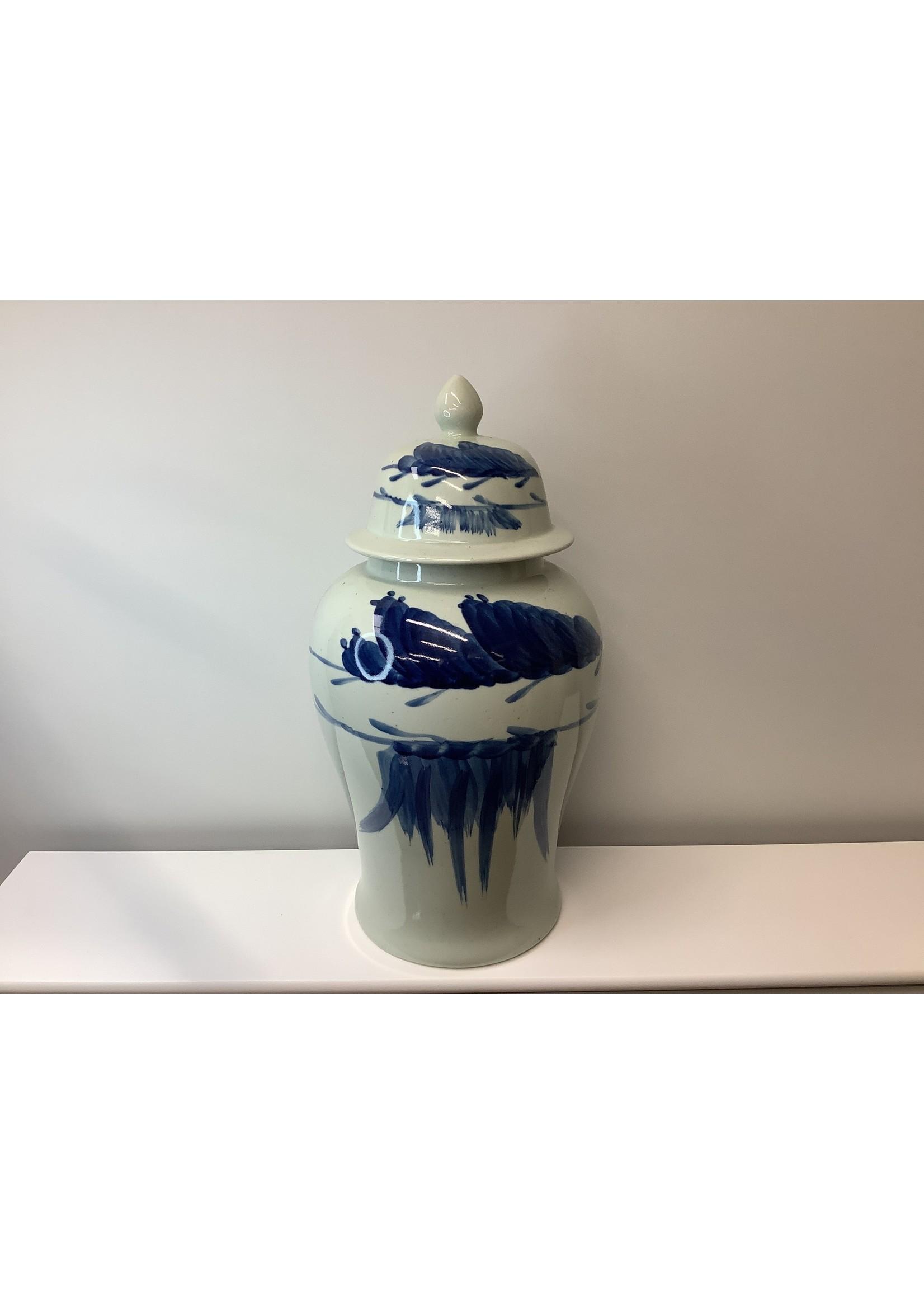 Large Blue & White ginger vase 47cm tall