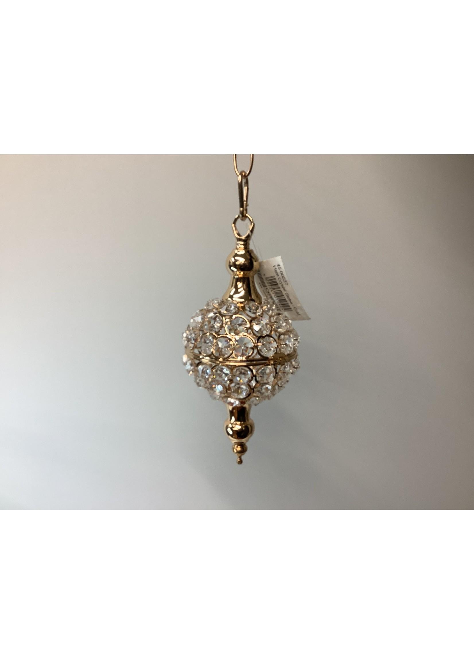 Crystal Globe Gold 11cm