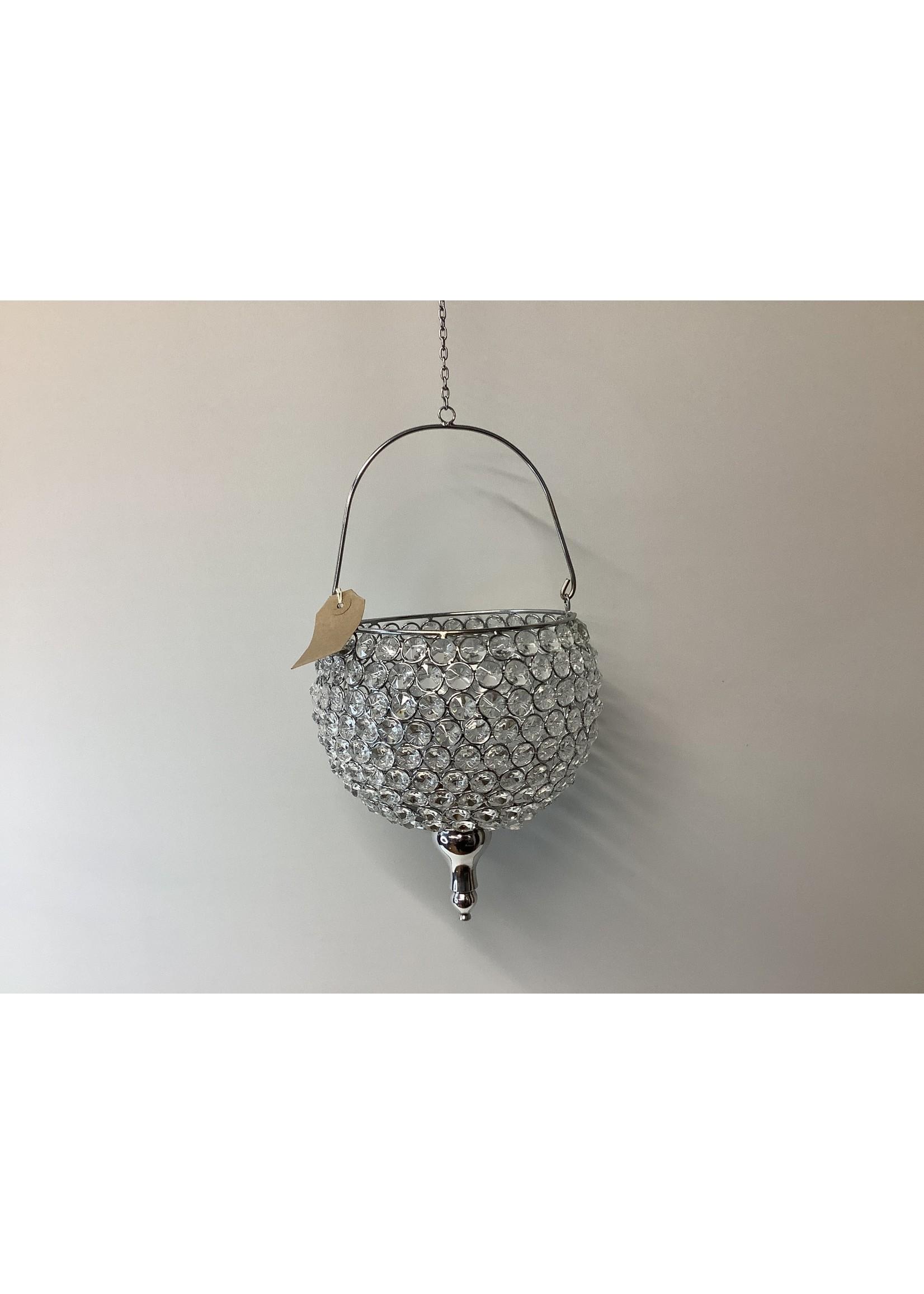 Copy of Crystal hanging tea light holder 20cm