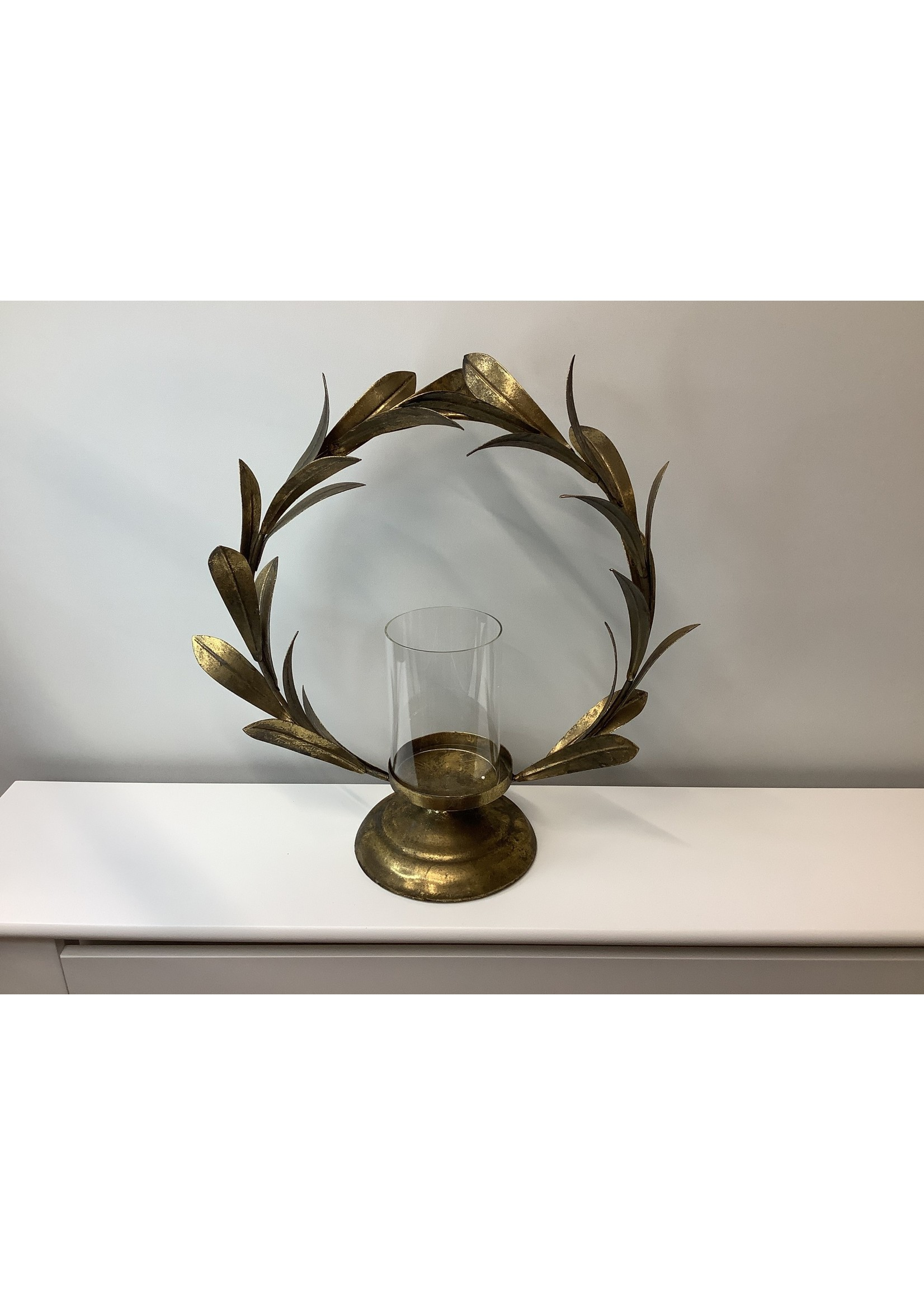 Gold leaf Large Candle Holder 38cm tall x 38cm wide