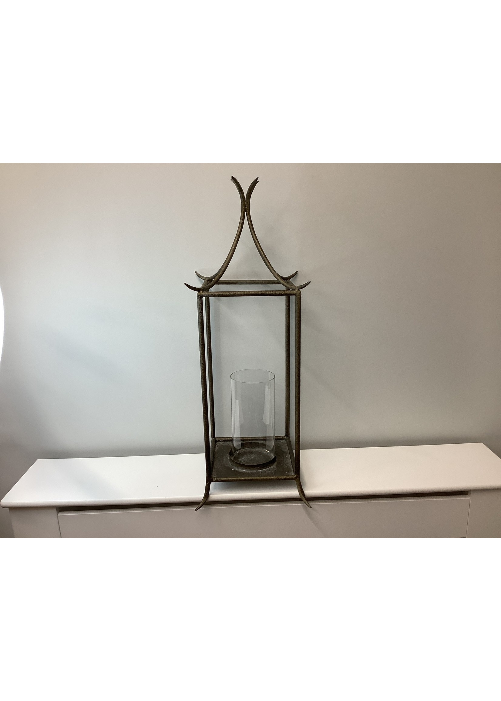 Large Metal Bamboo Style Candle Holder