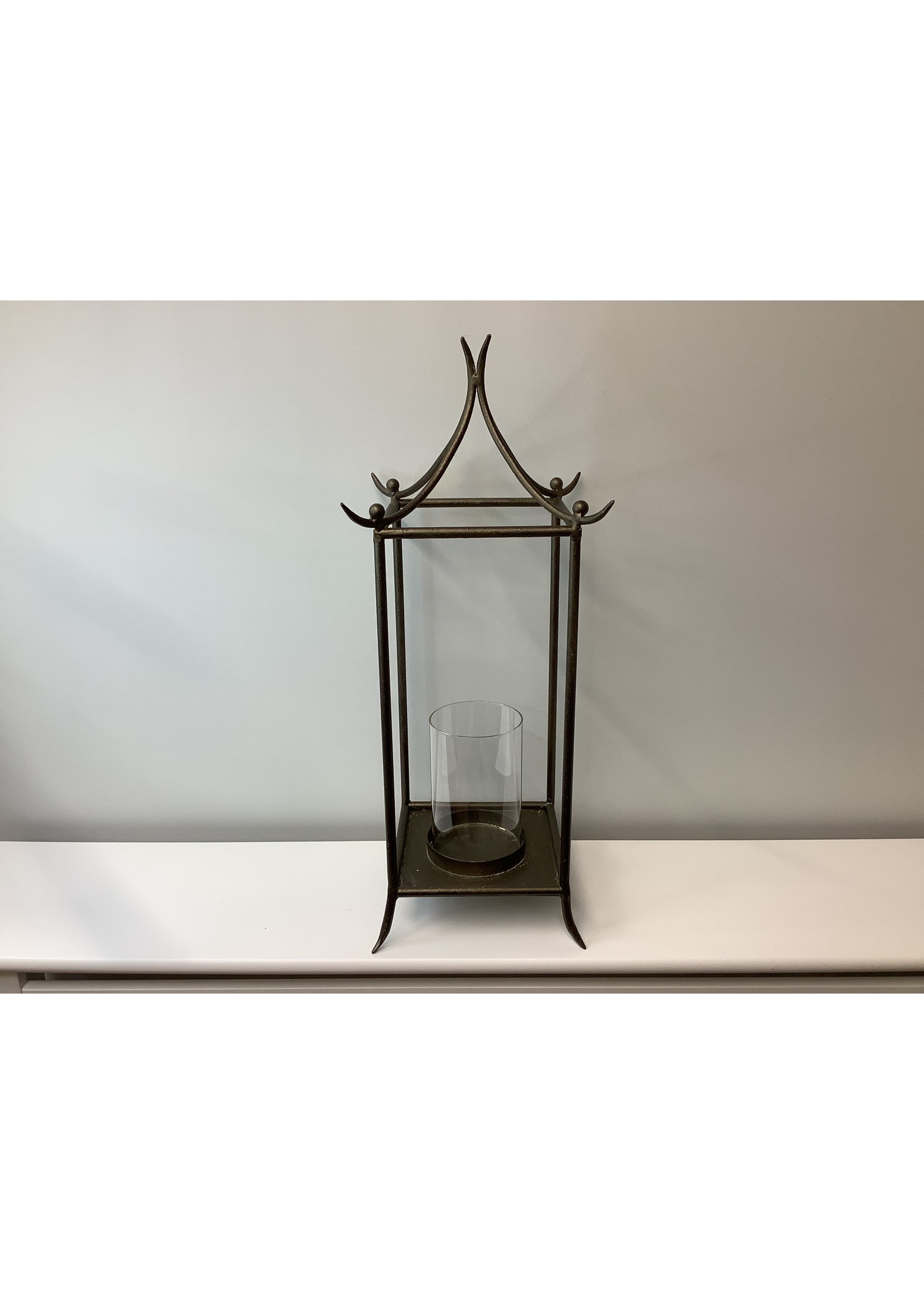 Small Metal Style Bamboo Candle Holder