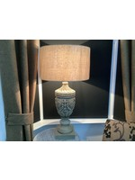 Large Carved Wood Lamp 97cm tall x 50cm wide