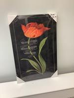 Flower Canvas Print 60cm x 40cm red tulip