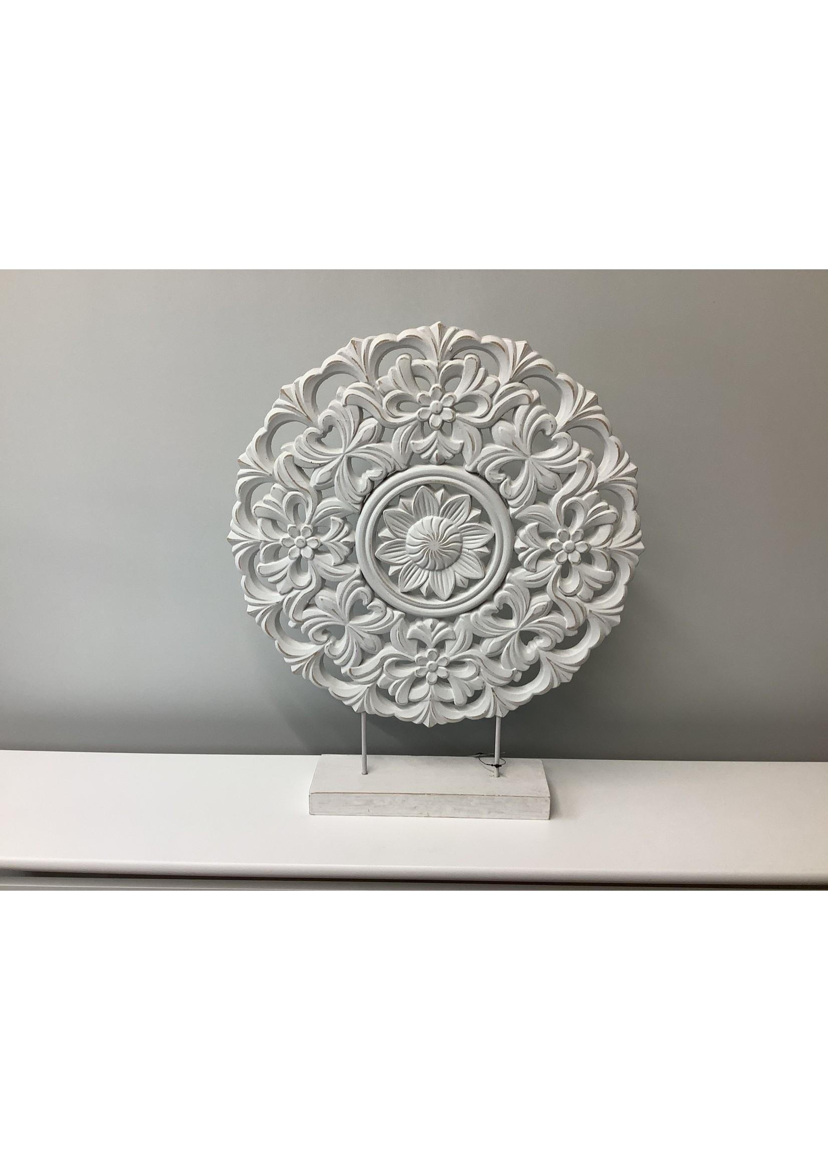 Wooden Decor Circle 47.5cm white