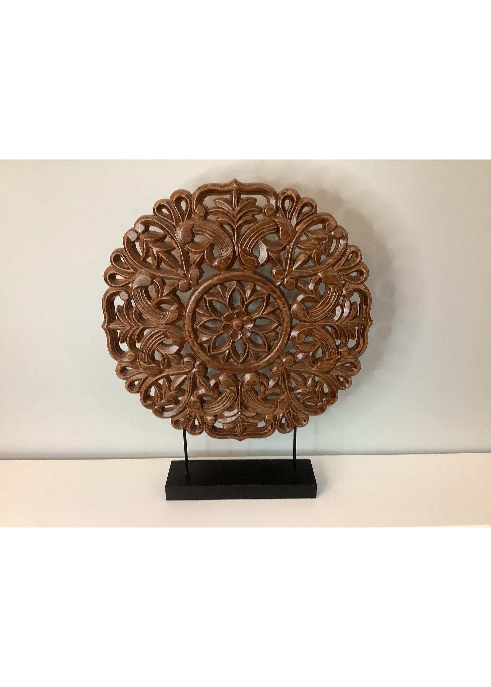 Wooden Decor Circle 47.5cm brown