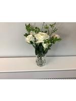 Roses in Hurricane Vase