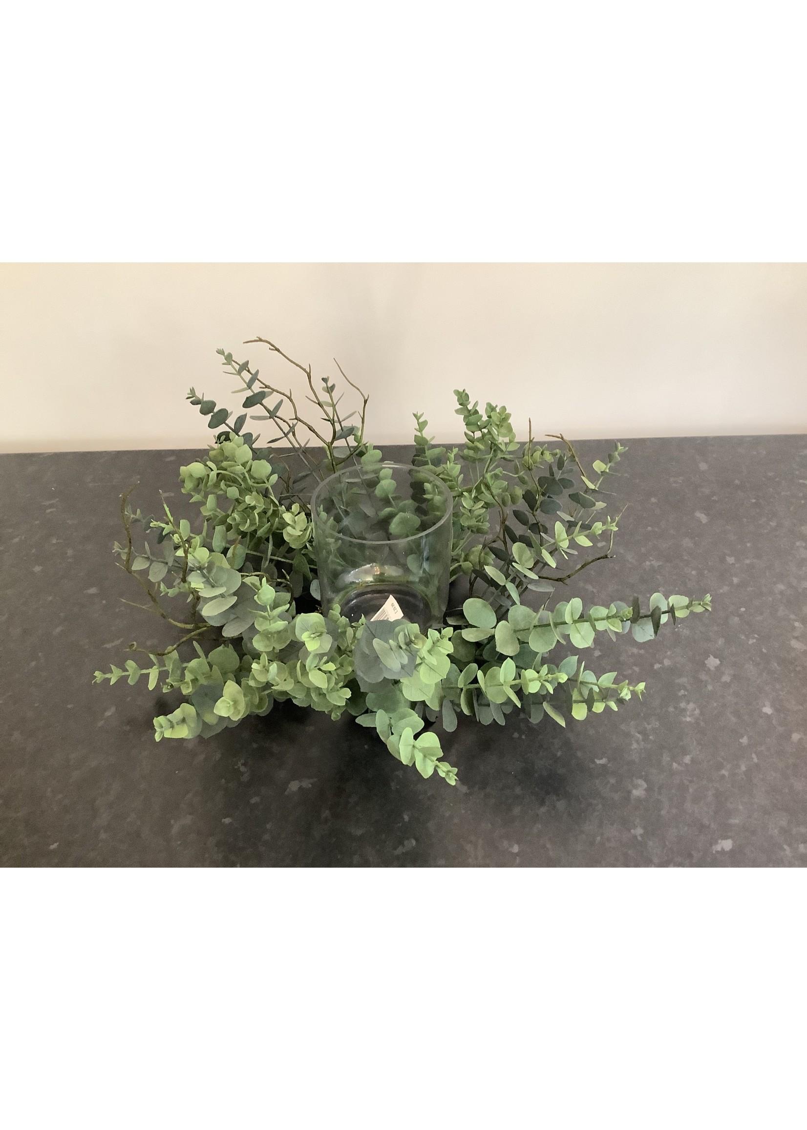 Eucalyptus Candle Holder 40cm wide