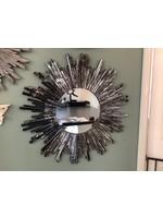 Mirror Black Starburst 78cm
