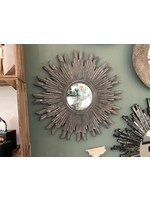 Mirror Antique Silver wooden 60cm