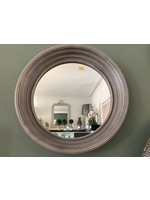 Mirror Grey ribbed frame 40cm