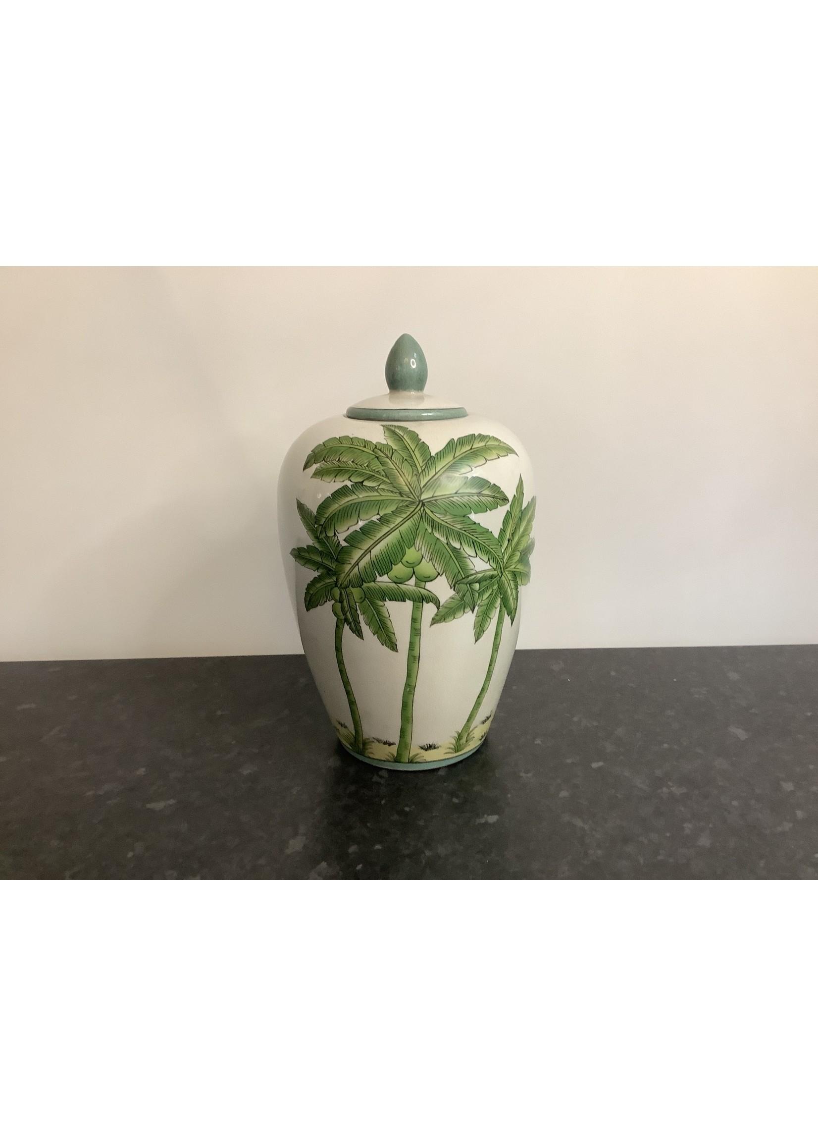 Medium palm vase with lid 33x18cm