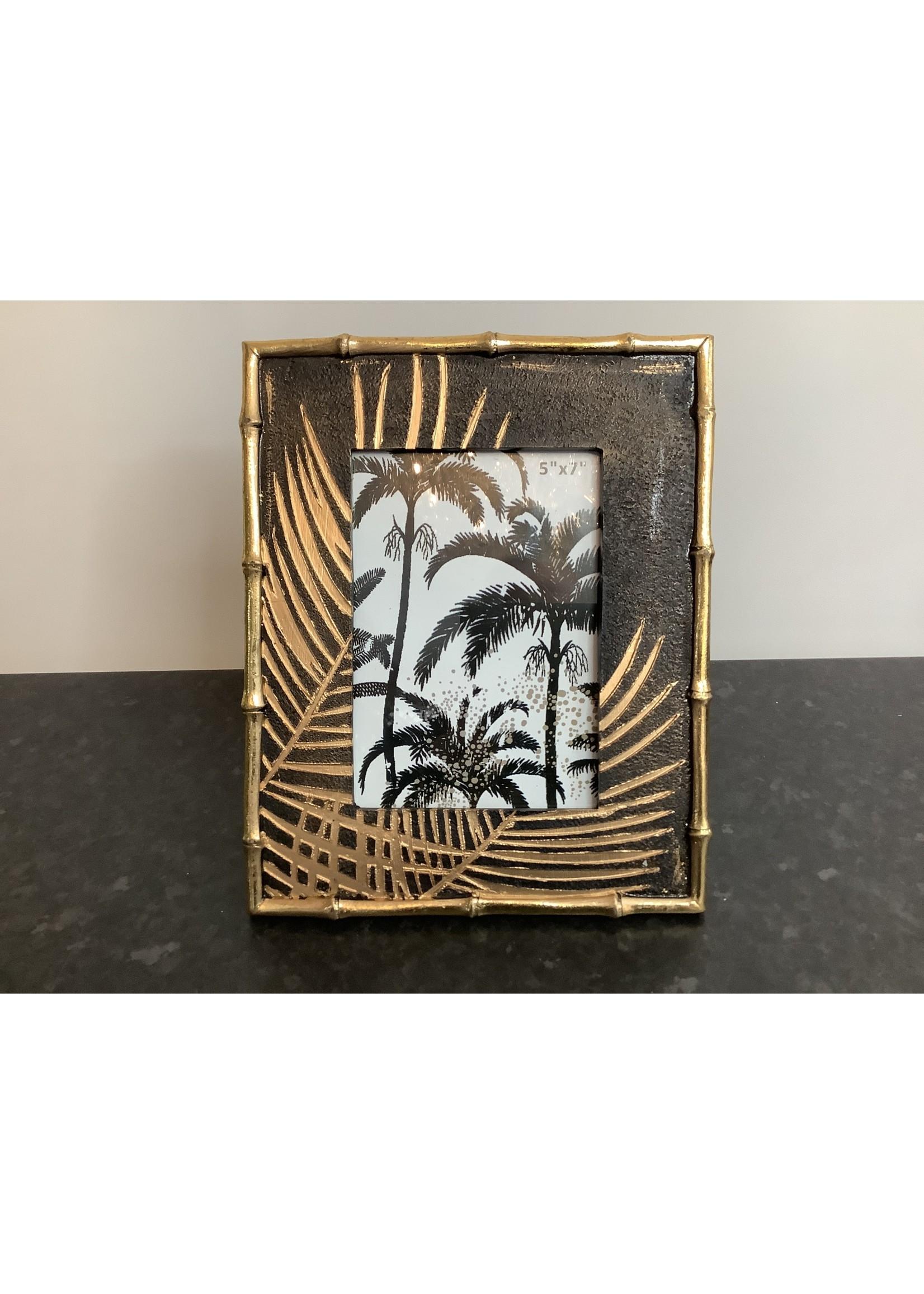 "Golden Palm Photo Frame 5""x7"""