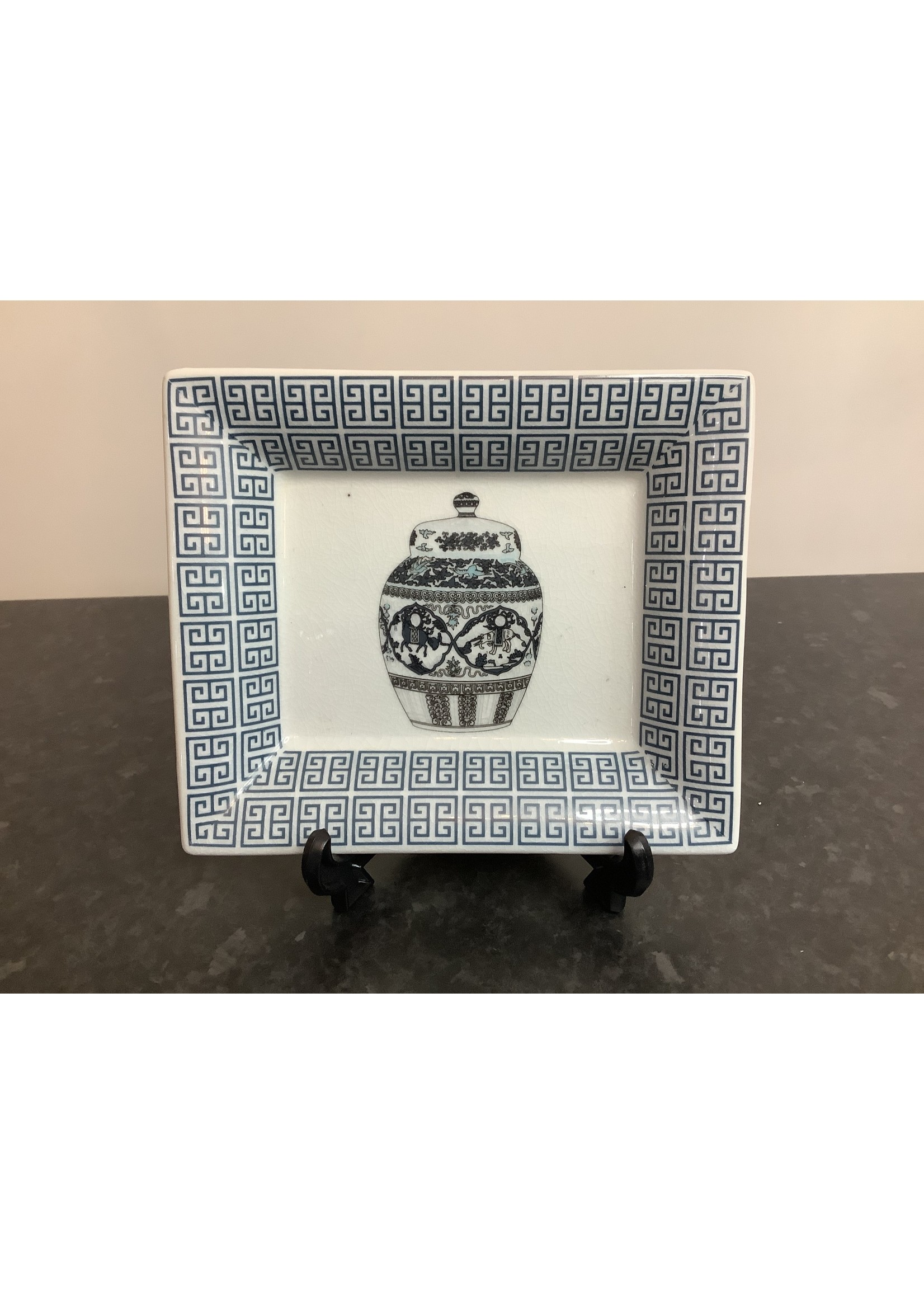 Chinese display plate 20x17cm