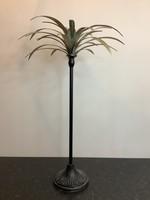 Tall palm metal candleholder 70cm tall