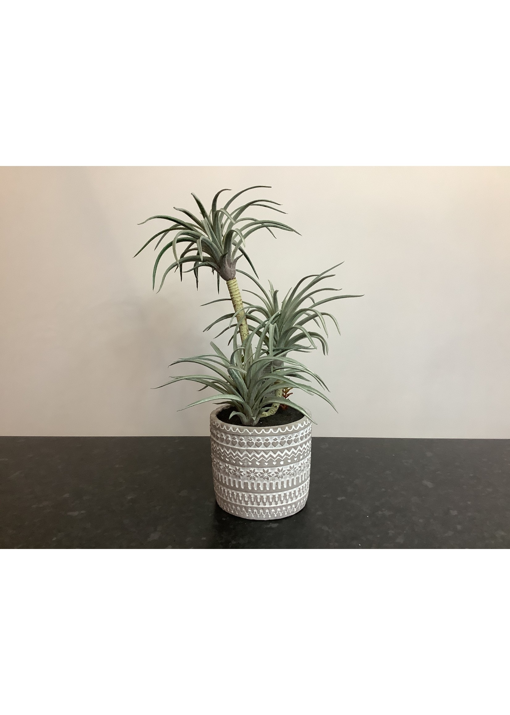 Artificial air plant arrangement 36cm tall