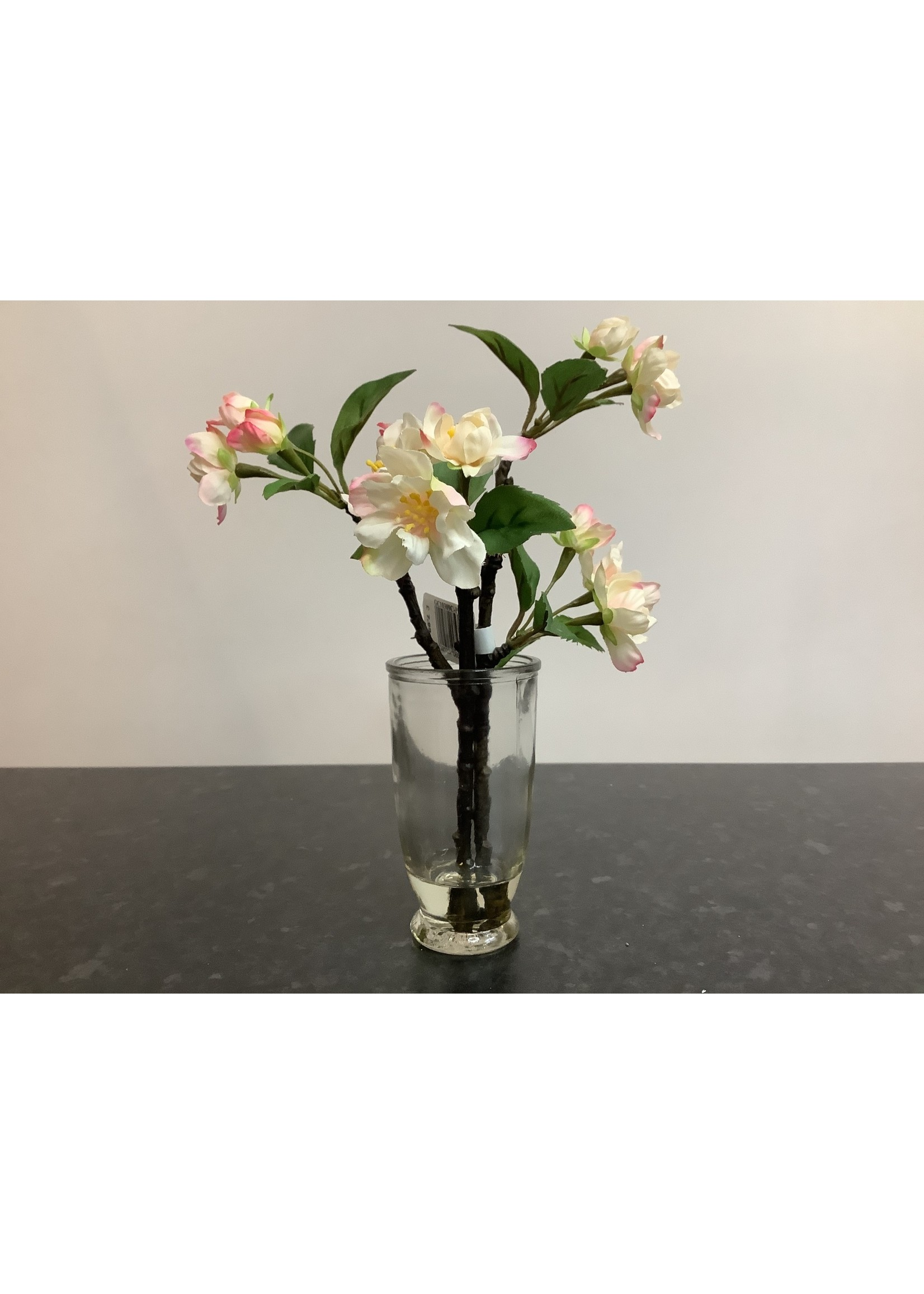 Small cherry blossom arrangement 25cm tall