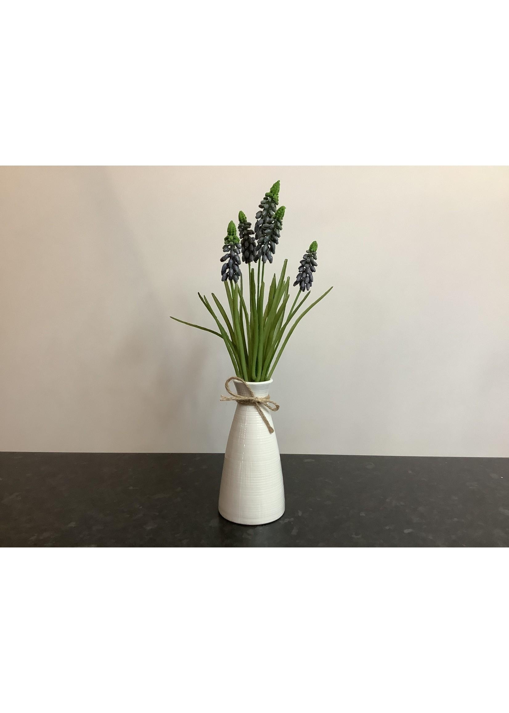 Grape Hyacinth in Ripple Vase 35cm