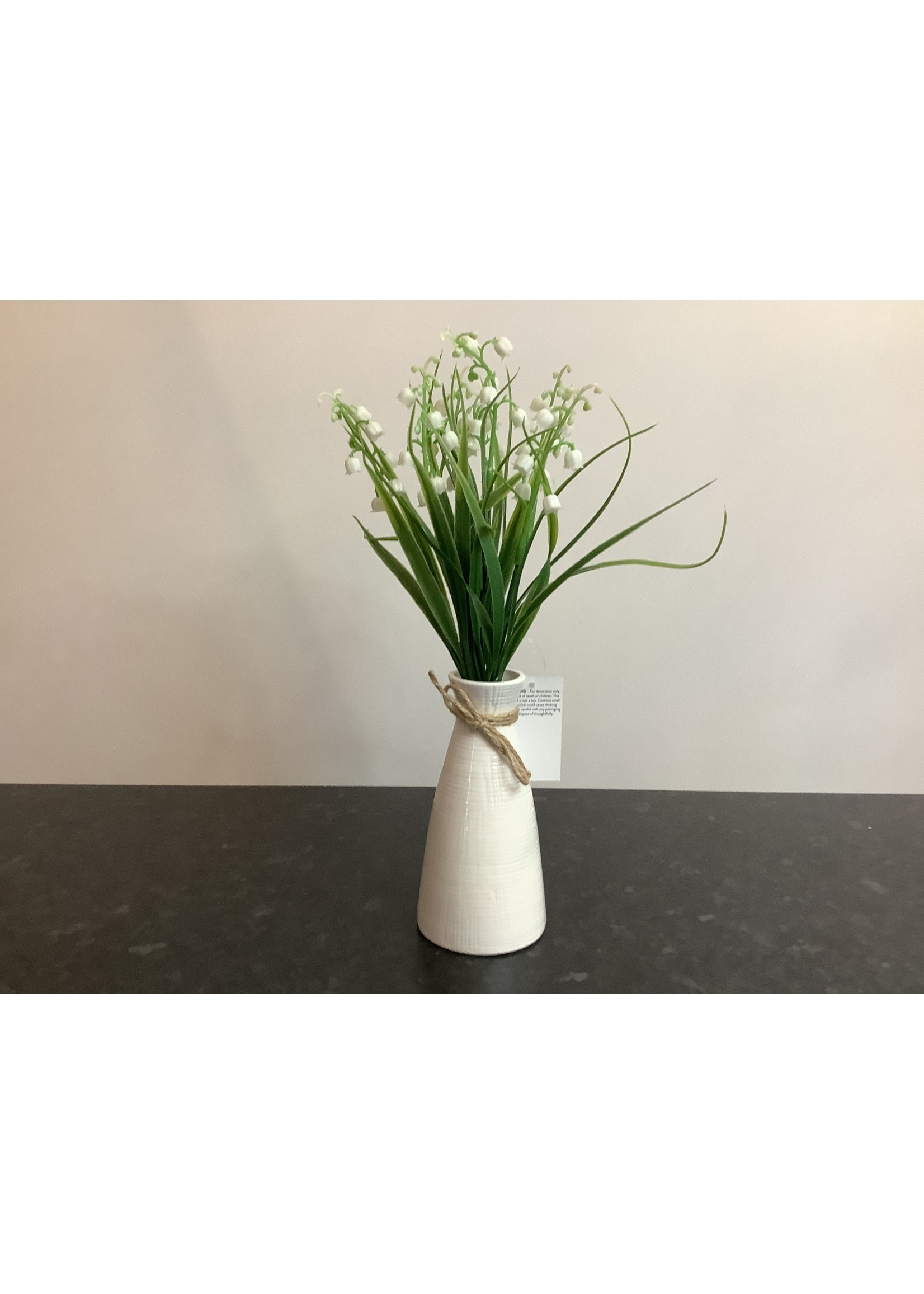 Lily of Valley in Ripple Vase 35cm