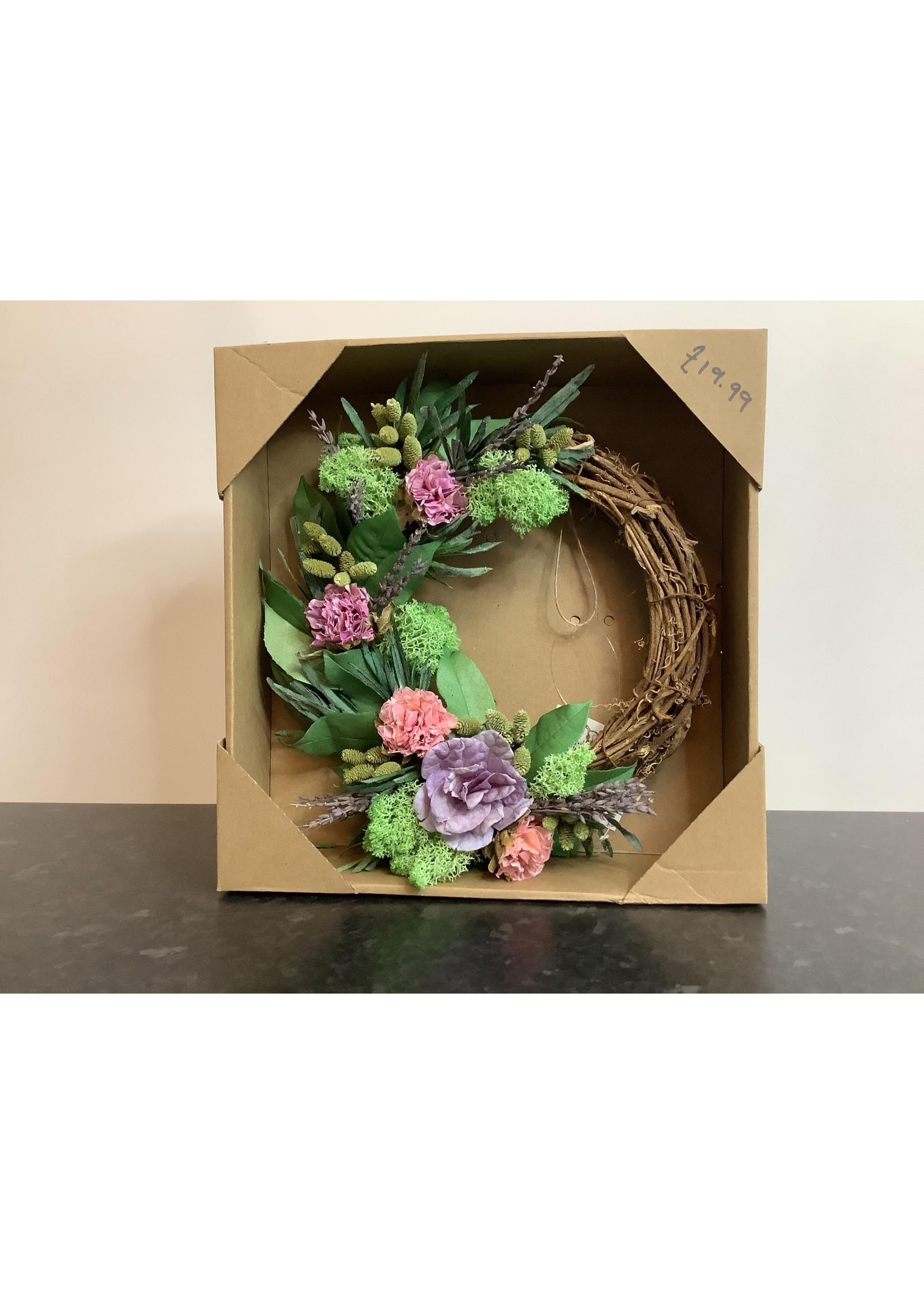 Dried flower wreath 24cm