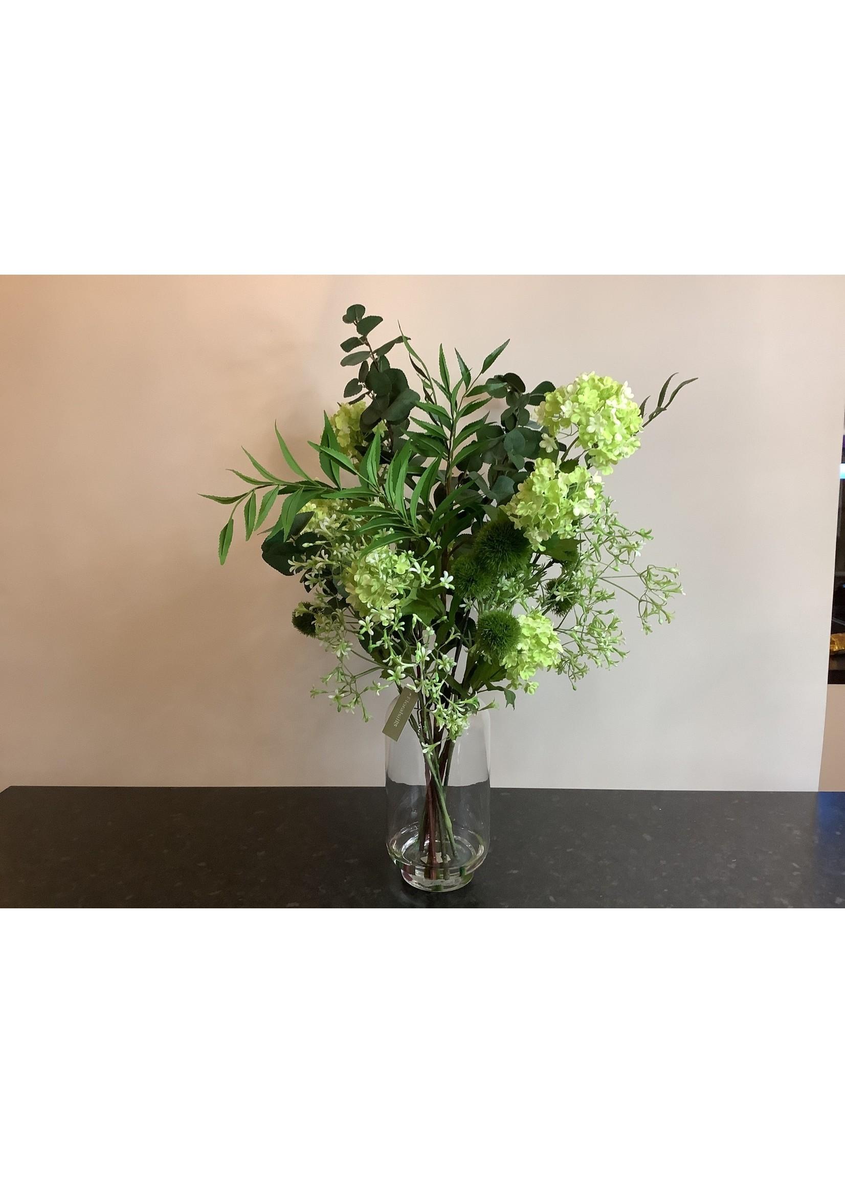 Viburnum & Foliage in Vase 76cm tall