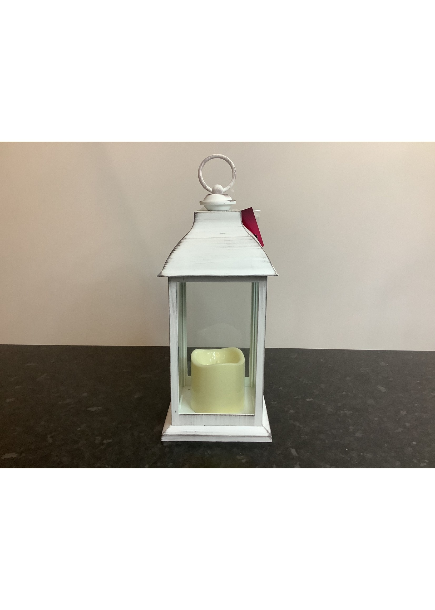 LED Lantern small white 35cm tall