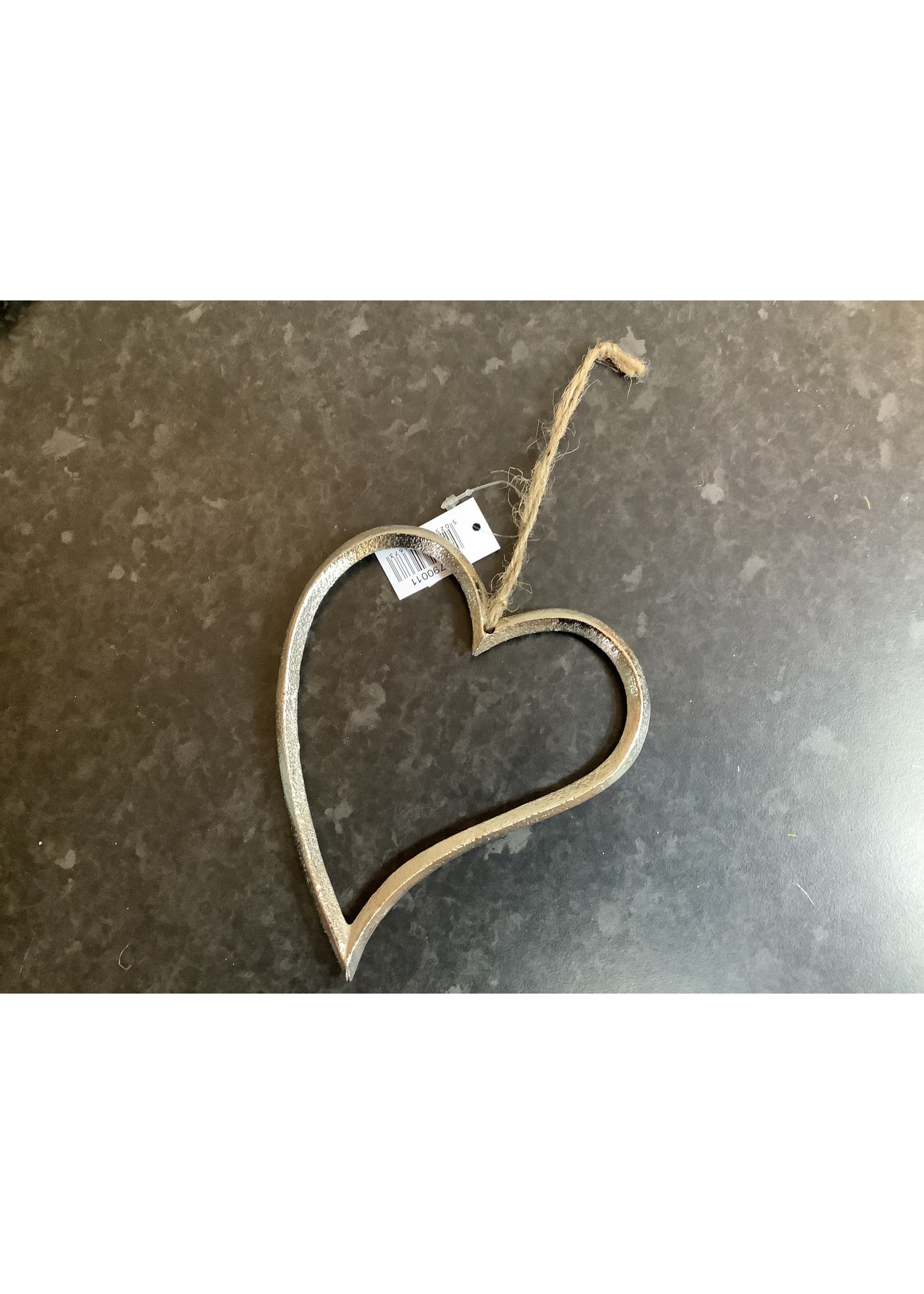Large Silver Heart 15cm