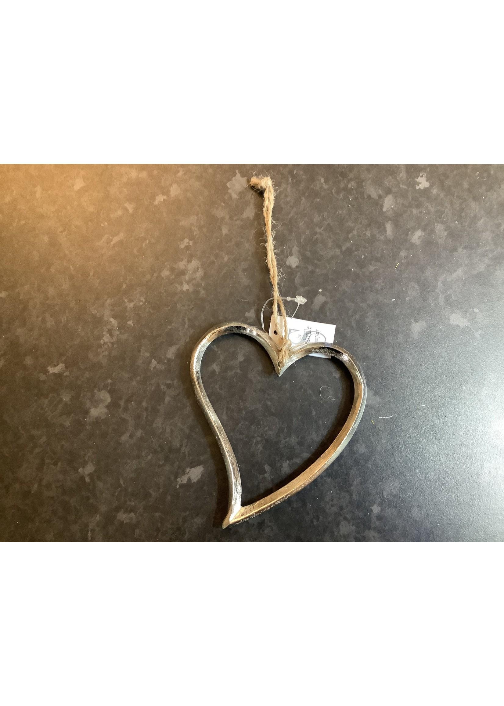 Small Silver Heart 12cm