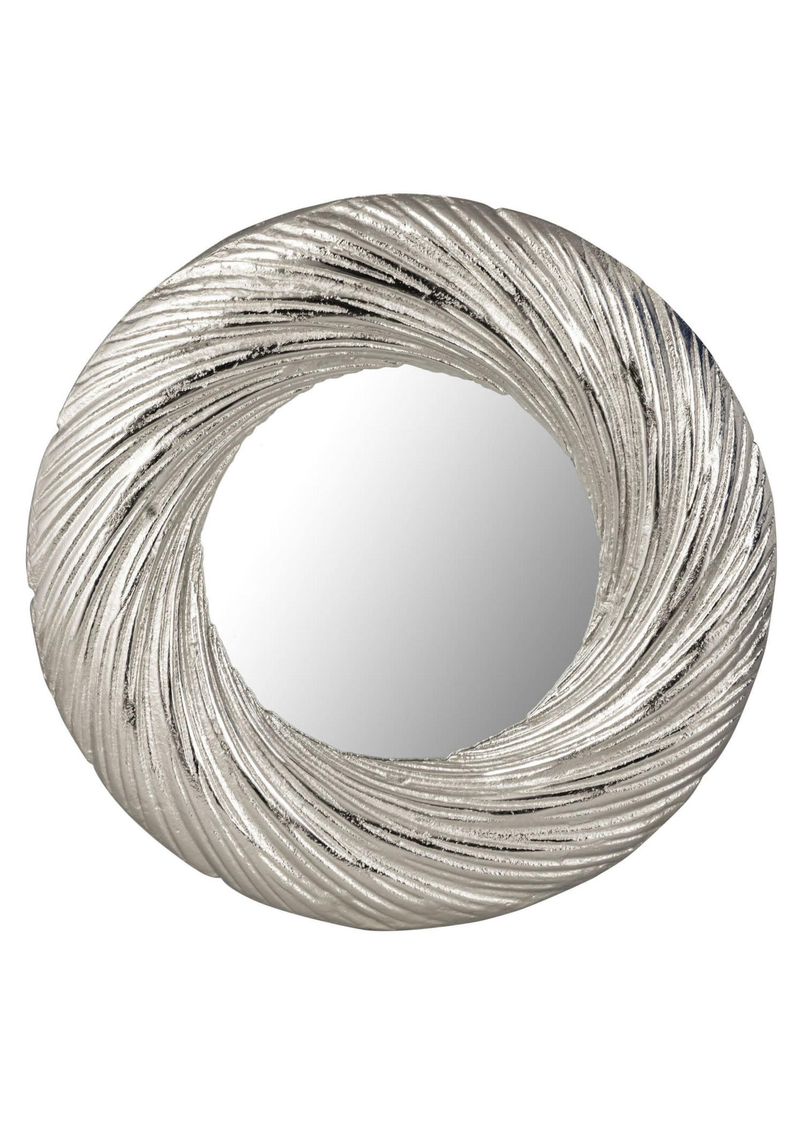 Silver Circular Mirror