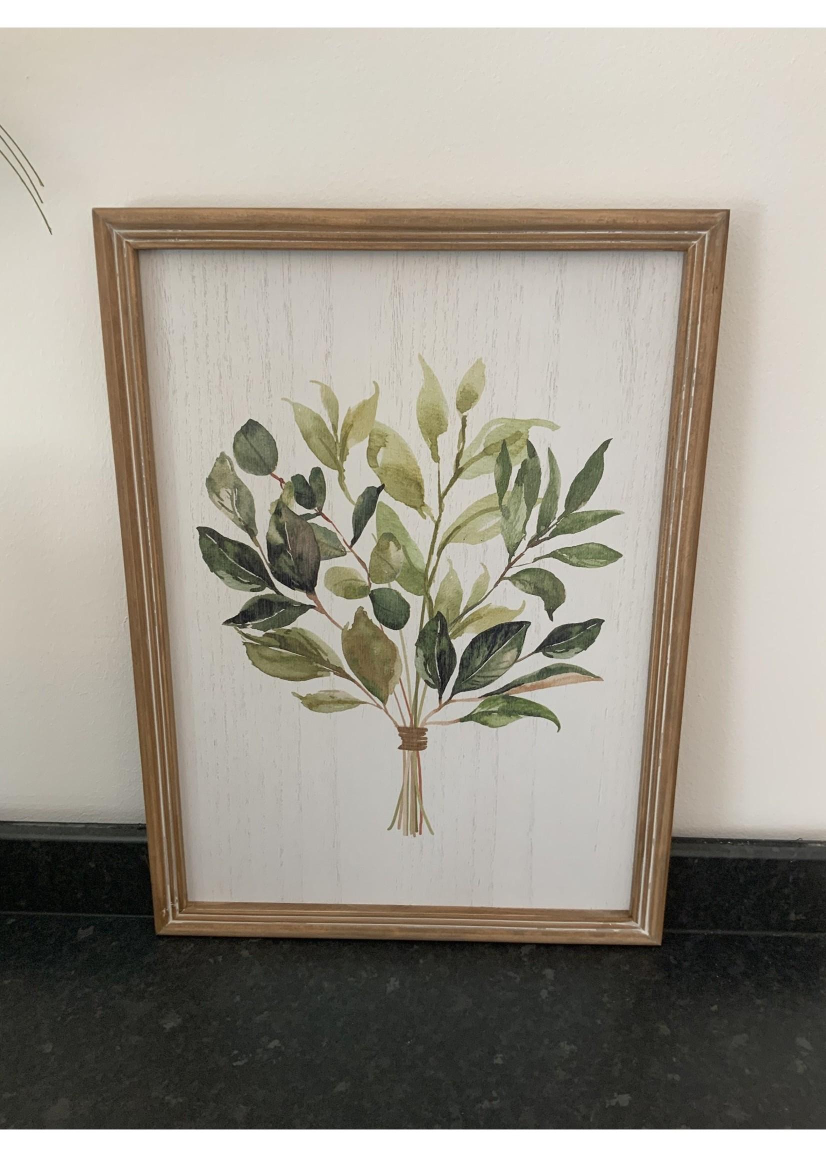 Foliage framed wall art