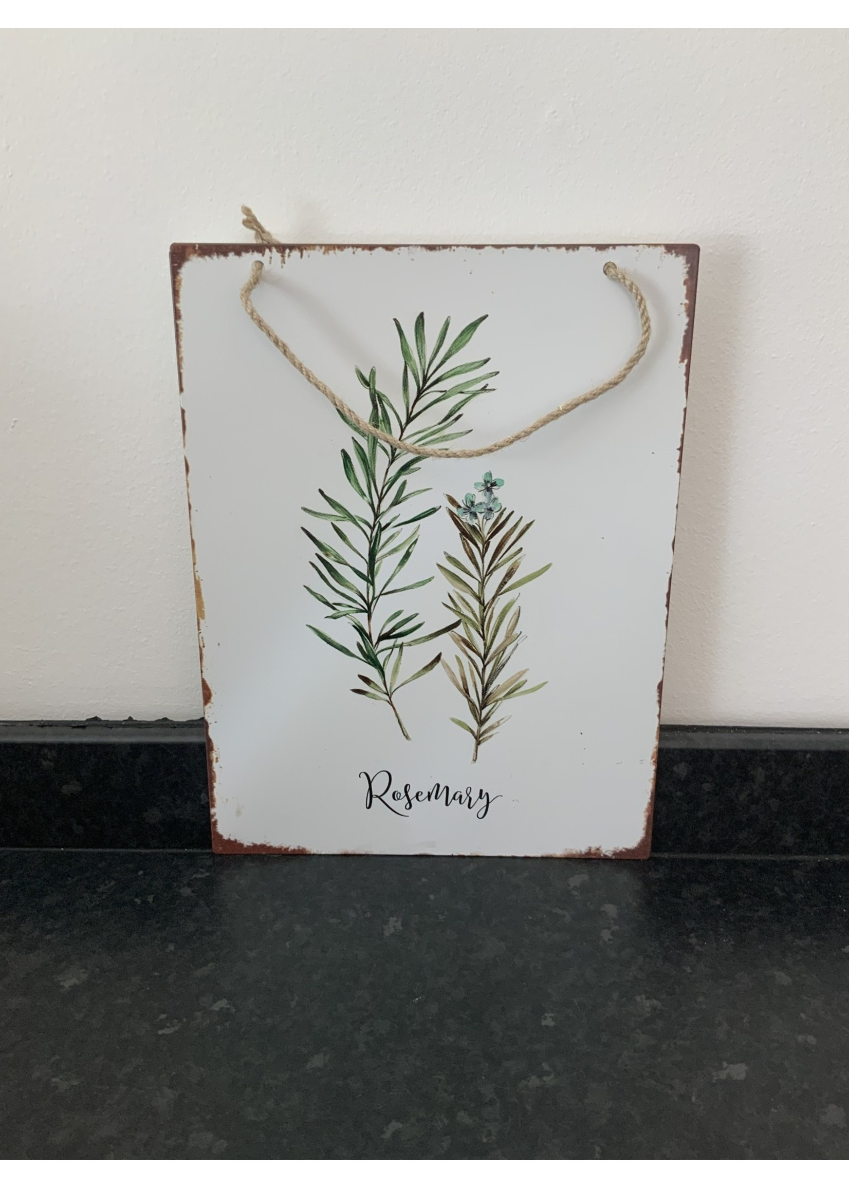 Metal wall plaque Rosemary