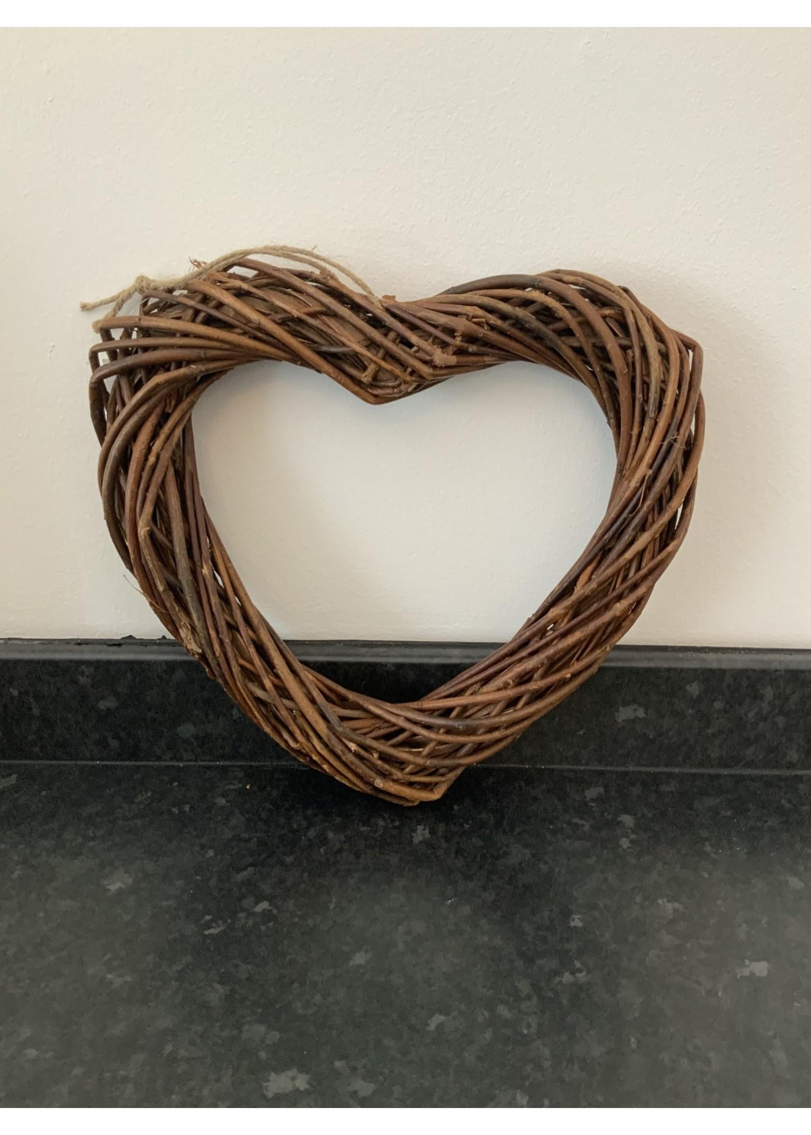 30cm Willow heart