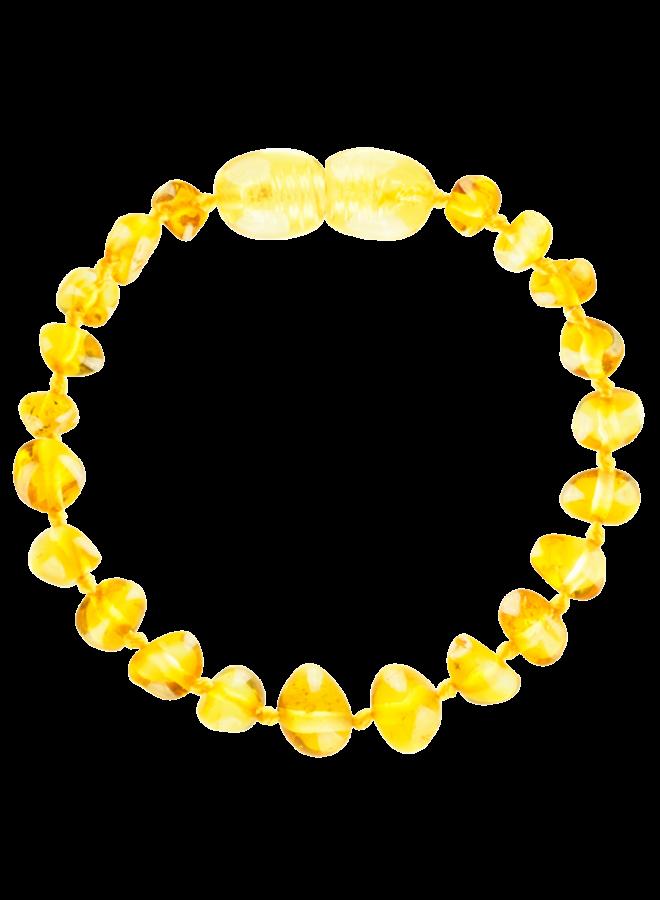 Barnsteen armband 14 cm - Lemon