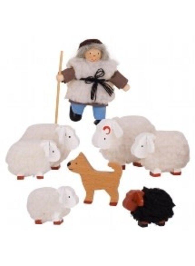 Herder met schaapjes