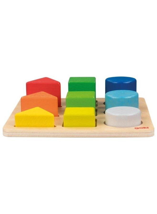 Vormen- en kleurenpuzzel