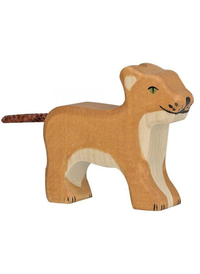 Holztiger Leeuw welp