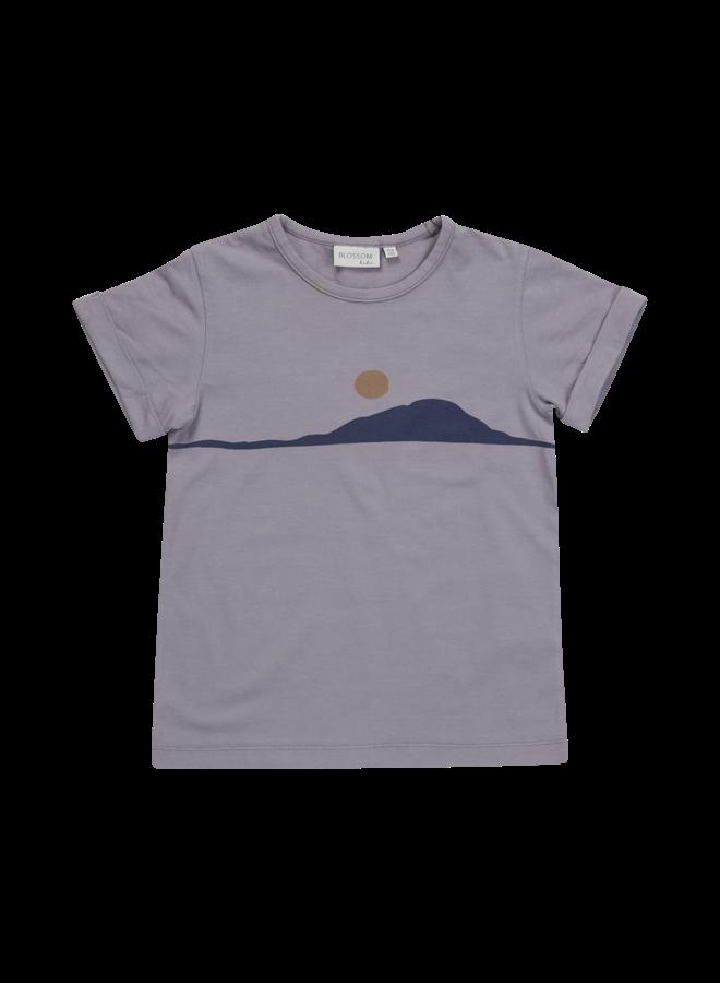 T-shirt Sunset - lilac grey
