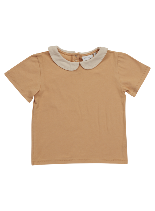Peterpan shirt short sleeve - Baked Clay