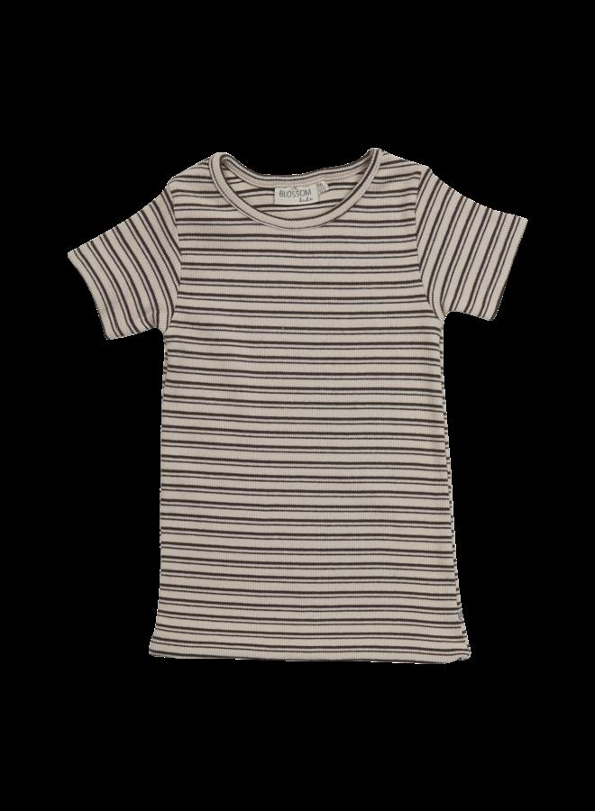 Short sleeve shirt - Stripes - Cinnamon