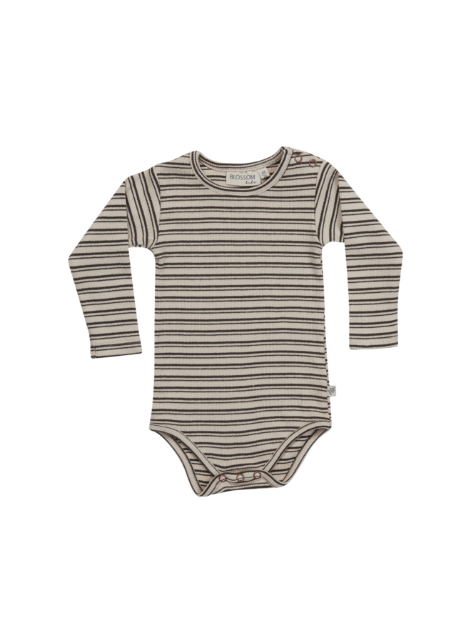 Body long sleeve - Stripes - Cinnamon
