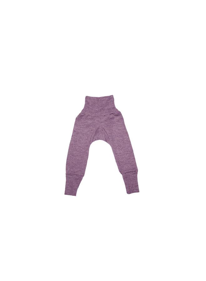 Katoen-wol-zijde broekje paars