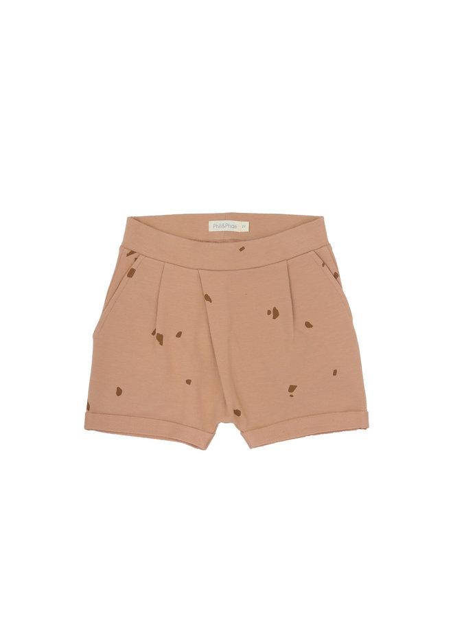 Fold-over shorts stones