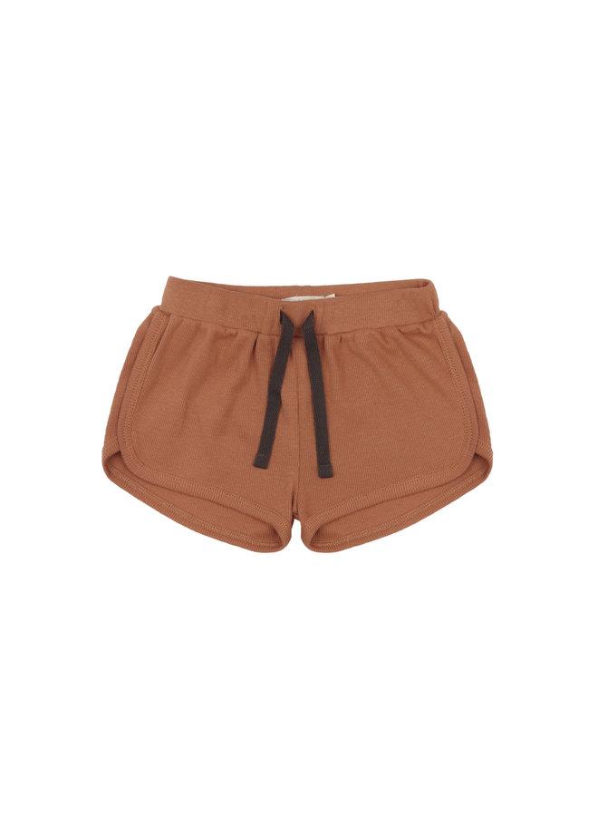Rib shorts terra