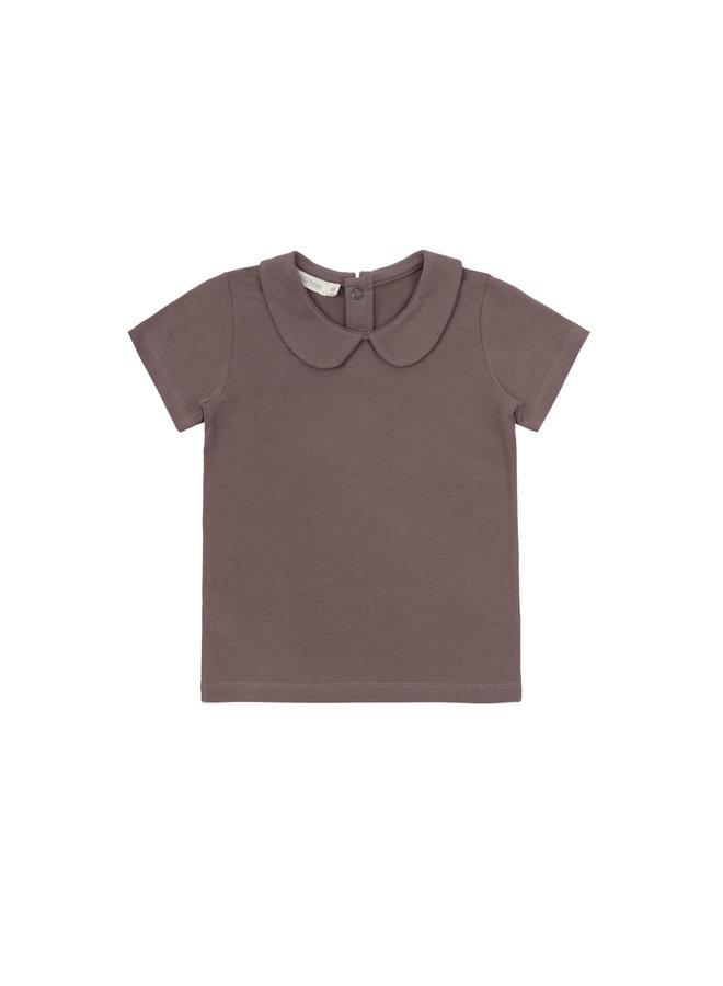 Collar tee heather