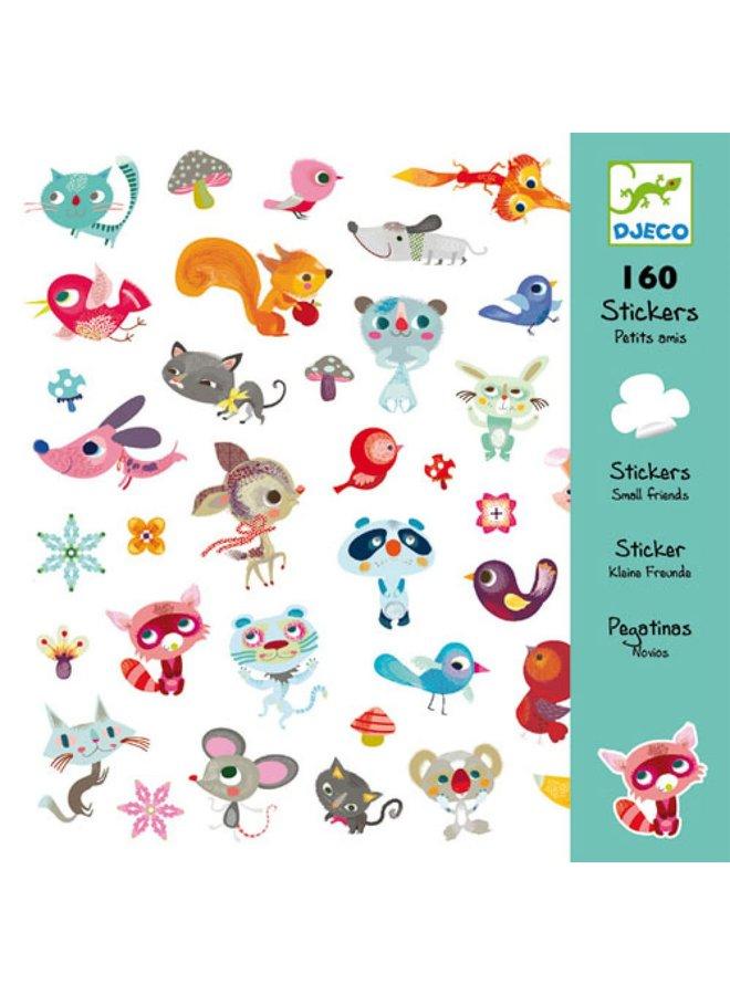 160 stickers - Kleine vriendjes