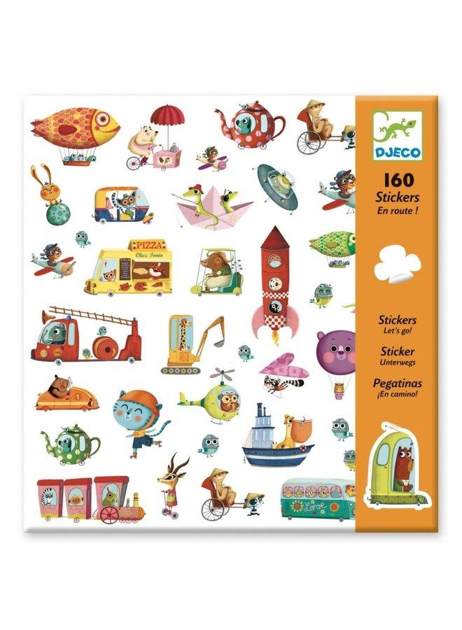 160 stickers - Onderweg