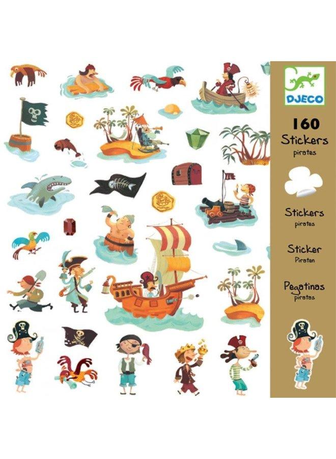 160 stickers - Piraten